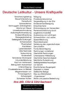 Deutsche Leitkultur kraftquelle Plakat A4
